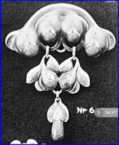 Evald Nielsen. Design no 6, from his first catalogue, containing 30 designs. Skonvirke brooch.
