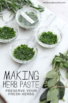 Making Herb Paste - Preserve your Fresh Herbs