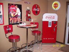 coca cola kitchen decor | Vitro Coca Cola Logo Chrome Bar Stools with Back