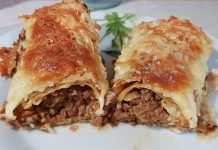 Κρέπες με κιμά στον φούρνο Mince Meat, Pitta, Lasagna, Food And Drink, Beef, Dinner, Ethnic Recipes, Sausages, Pancakes