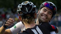 Joy after the victory of John Degenkolb in the last stage of La Vuelta 2015