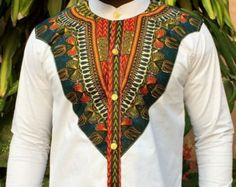 Odeneho Wear Men's Polished Cotton Top And Bottom With