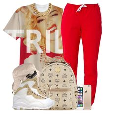 A fashion look from September 2014 featuring MCM backpacks and Jennifer Meyer Jewelry earrings. Browse and shop related looks. Cute Swag Outfits, Dope Outfits, Casual Outfits, Girl Outfits, Fashion Outfits, Dope Fashion, Fashion Killa, Urban Fashion, Teen Fashion