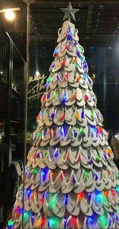 Flip flop Christmas tree! Love it!