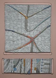 Gallery 2: THE LAND « American Tapestry Alliance; Mette Lise Rössing, 2011, haute-lisse, wool, linen, cotton, gold and silk, 29 x 20 cm, (photo by Mette Lise Rössing)