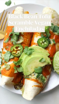 High Protein Vegetarian Recipes, Vegetarian Dinners, Tofu Recipes, Delicious Vegan Recipes, Mexican Food Recipes, Whole Food Recipes, Cooking Recipes, Healthy Recipes, Vegan Meal Plans