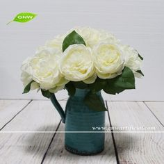 43 best artificial flowers rose images on pinterest art flowers gnw fl rs28 85cm wholesale high quality ivory white rose flowers artificial mightylinksfo