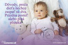 Dôvody, prečo dieťa nechce zaspať sú dva: prázdna posteľ alebo plná plienka Children, Kids, Onesies, Humor, Face, Young Children, Young Children, Boys, Boys