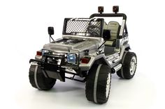 Jeep Wrangler Style 12V Kids Ride-On Car MP3 Battery Powered Wheels RC Remote | Carbon Grey