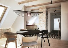 razoo-architekci Clean Space, Modern Cottage, Cottage Homes, Clean Design, Modern Lighting, Interior Inspiration, Dining Chairs, Indoor, Ceiling Lights