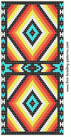 free-beading-pattern-wallet-turquoise