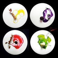 Plating galore by chef Yann Bernard Lejard restaurant Glow from Saudi Arabia #TheArtOfPlating