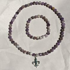 Sage Amethyst Jewelry Set