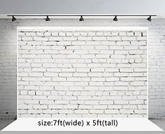 Purchase White Brick Wall Backdrop Photography Background Studio Prop Photo Backdrop Photography Backdrop from Hedda Stan on OpenSky. Video Backdrops, Wall Backdrops, Background For Photography, Photography Backdrops, Grey Wooden Floor, Brick Paper, Christmas Backdrops, Brick Wall Background, White Brick Walls