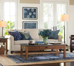 Cameron Roll Arm Upholstered Sofa, Polyester Wrap Cushions, Performance Everydayvelvet Buckwheat