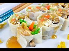 ปอเปี๊ยะสดเจ (อาหารเจ) Vegetarian Spring Roll