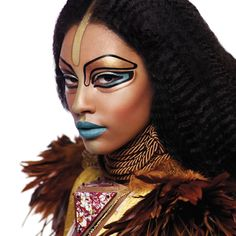 Blue lips and no eyebrows. It could only be Illamasqua. Fantastic
