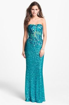 I saw this in person, it's awesome!!! Faviana Strapless Sequin Gown (Online Exclusive) available at Nordstrom