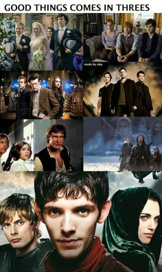 Guys, guys. I fixed it. It is no longer lacking in the TRUE best trio of them all: Arthur, Merlin,  Morgana.
