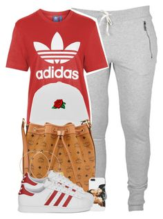 """""""He'll probably come around, soon as I settle down, that's the motion."""" by cheerstostyle ❤ liked on Polyvore featuring Topshop, MCM, Forever 21 and adidas Originals"""
