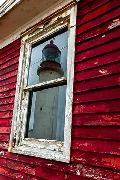 A Lighthouse in the Window-Cape Race Lighthouse, Newfoundland, contains one of the most powerful lights in the world. It is the first and last light seen by ships crossing the Atlantic Ocean. William Adolphe Bouguereau, Lighthouse Keeper, Newfoundland And Labrador, Newfoundland Canada, Beacon Of Light, Prince Edward Island, Through The Window, Foto Art, Belle Photo
