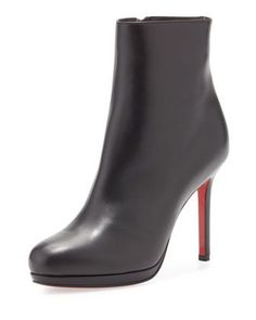 c61fe7f0d16ccb Christian Louboutin Bootylili Leather Red Sole Ankle Boot