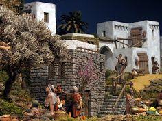 Escenografías para el Belén: abril 2013 Garcia Lopez, Christmas Nativity Scene, Mount Rushmore, Travel, Image, Models, Projects, Birth Of Jesus, Christmas Ornaments