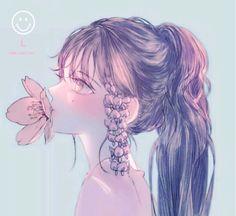61 Ideas drawing girl sad feelings people for 2019 Anime Angel, 5 Anime, Fanarts Anime, Kawaii Anime, Anime Characters, Pretty Anime Girl, Beautiful Anime Girl, Anime Art Girl, Manga Girl