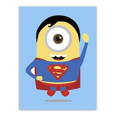 Minions Superheros Avengers Batman Funny Pop Anime Movie A4 Art Print Poster Wall Picture Canvas Decor