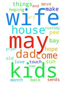Need prayer for a house and for may wife - Need prayer for a house and for may wife to come back to me and the Lord I love her and need all the paryer s I can get to help me and her. She has two kids with other men before I meet her I have hired things from her daughter with is only 5 every time her dad comes a round and I make him live she comes to me and ask me to touch her pee pee is her dad doing things to her and her other sun with his dad has full custody of him sends may wife necked…