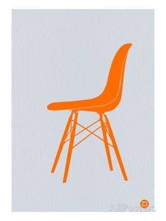 Orange Eames Chair Impressão artística
