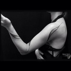 Body Ribbon | 53 Subtle Tattoo Ideas Your Parents Won't Even Mind