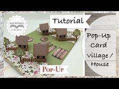 DIY * Pop-Up Card / Book * House / Village * Dorf * Karte * Tutorial - YouTube Pop Up Card, Card Book, Card Tutorials, Youtube, Etsy, Books, Popup, Cards, House