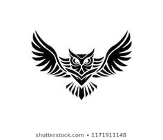 Find Owl Logo Vector Illustration Emblem Design stock images in HD and millions of other royalty-free stock photos, illustrations and vectors in the Shutterstock collection. Thousands of new, high-quality pictures added every day. Owl Tattoo Drawings, Tatoo Art, Body Art Tattoos, Tattoo Owl, Circle Tattoos, Arm Tattoo, Sleeve Tattoos, Tribal Owl Tattoos, Black Tattoos