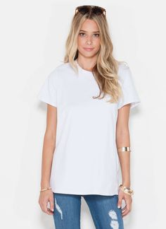 Comfiest. Tee. Ever. You'd have to be cray to pass up this closet staple.