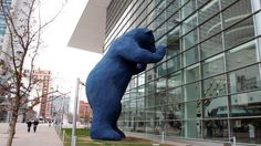 Claes Oldenburg Most Famous Sculptures | ... big blue bear, one of the city's most popular public art installations