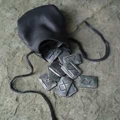"""Runes of Iron - A Beautiful Set of the Younger Futhark Runes made from Iron. I ought to put these on my """"Wish"""" list, lol!"""