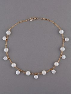 Olga King Pearl Necklace SP-4N. I wonder if she'd make me one in silver...