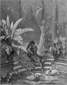 Illustrations to Orlando Furioso & Gustave Doré Gustave Dore, Spiritus, Wood Engraving, French Artists, Paris, Ink Art, Art World, Les Oeuvres, Illustrations Posters