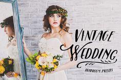 40 Vintage Wedding Lightroom Presets by Fotomarket on @creativemarket