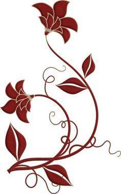 Image result for swirls floral stencil