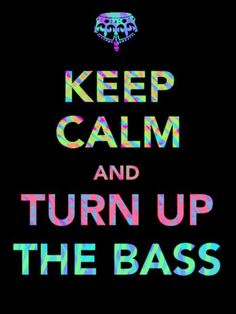 Keep Calm And Turn Up The Bass:   Bitta club cultcha for ya. I am down with the youth, yo. Oh dear.