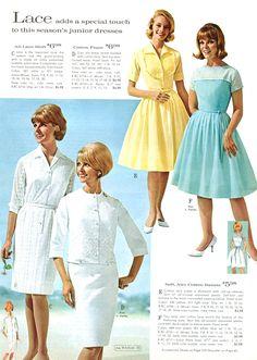 1960s Dresses, 1960s Outfits, Vintage 1950s Dresses, Vintage Outfits, 60s And 70s Fashion, Retro Fashion, Vintage Fashion, Mode Vintage, Vintage Ads