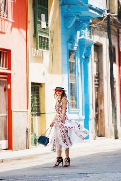 CHANEL Editorial in Cuba, Chanel Airlines Collection Dress, The Girl From Panama…