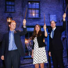 Waving wands of magick***Wills Kate and Hal.....