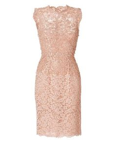 Valentino | Pink Beaded Lace Dress | Lyst