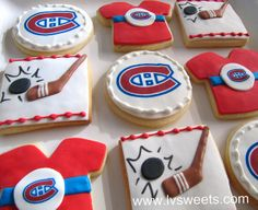 Hockey cookies by L sweets, via Flickr