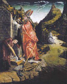 Ein Kirchlein wird gebaut  Nach der Legende suchte Wolfgang während seines Aufenthalts in der Gegend des Wolfgangsees einen Platz für eine Hütte.