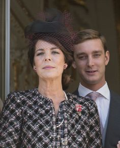 Princess Caroline of Hanover and Pierre Casiraghi attend the National Day Parade from the balcony of Monaco Palace on 19 Nov 2012