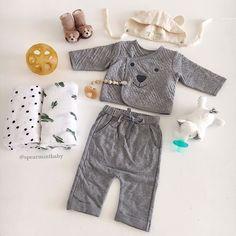 NEW: Organic Cotton Kimono Bear Sets! shop new arrivals at spearmintLOVE.com